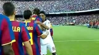 FC Barcelona Vs AC Milan   Ronaldinho Return of the King   25 08 10