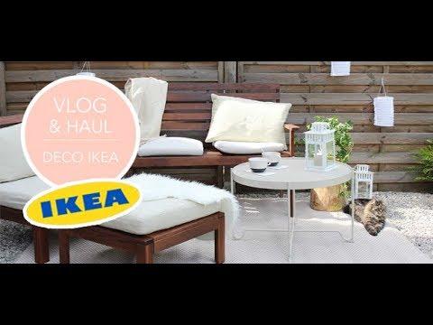 VLOG + HAUL déco IKEA - Aménagement terrasse