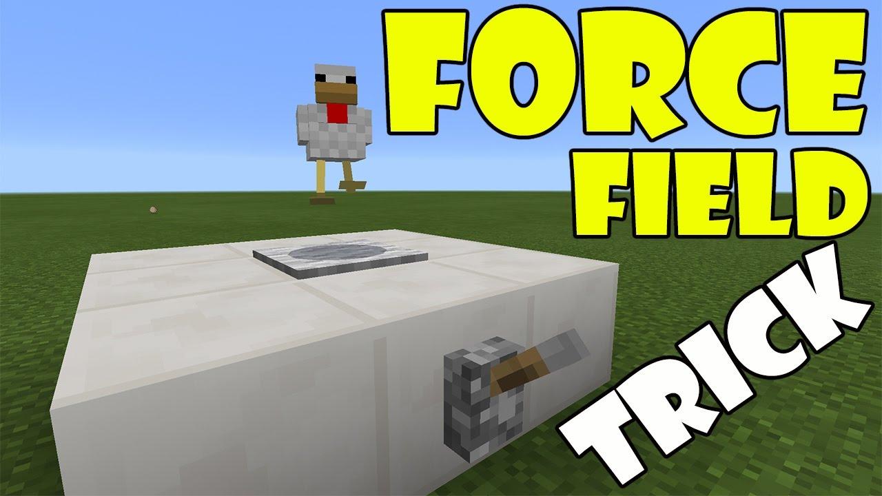 FORCE FIELD TRICK   Minecraft PE (Pocket Edition) MCPE