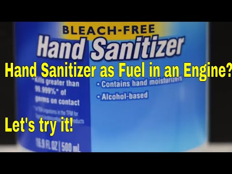 Will a Gas Engine Run on Hand Sanitizer? Let's find out!