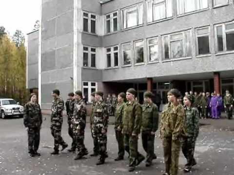 Строевая подготовка - команда школы №2 г.Костомукши