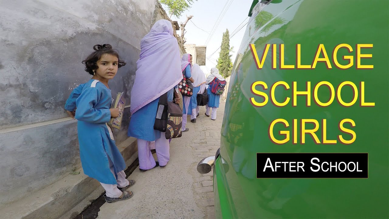 Village School Girls Punjab Pakistan After School 4k Ultra Hd