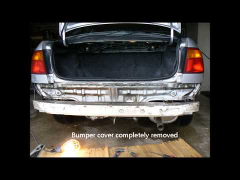 replace rear bumper cover on a 1999 honda civic ex youtube