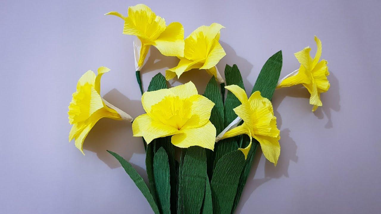 Hướng Dẫn Làm Hoa Thủy Tiên Giấy / DIY Narcissus Paper Flowers / Craft Tutorial