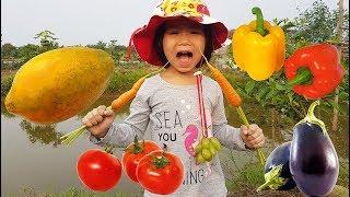 Harvest FRUITS VEGETABLES, Bé Đi Thu Hoạch Rau Củ Quả và Nhận Biết Rau Củ Quả, BaBiBum