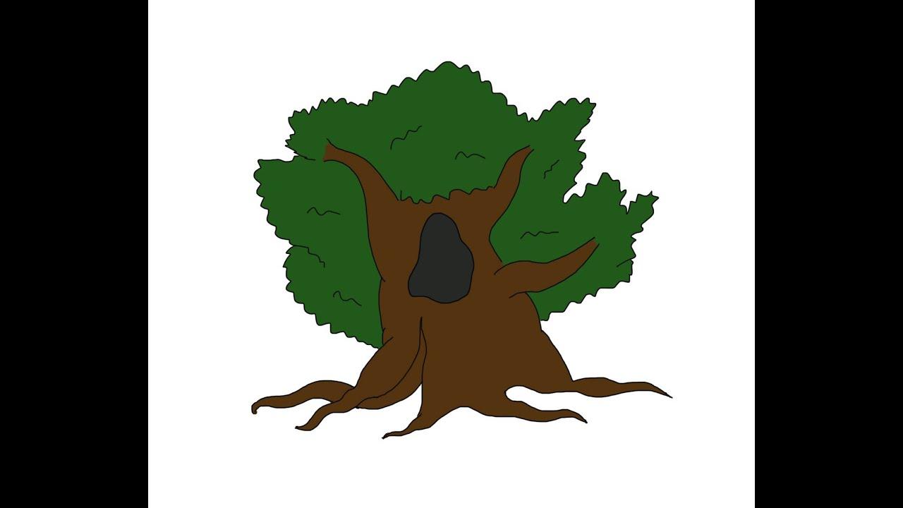 oak tree how to draw a easy как нарисовать просто дуб youtube