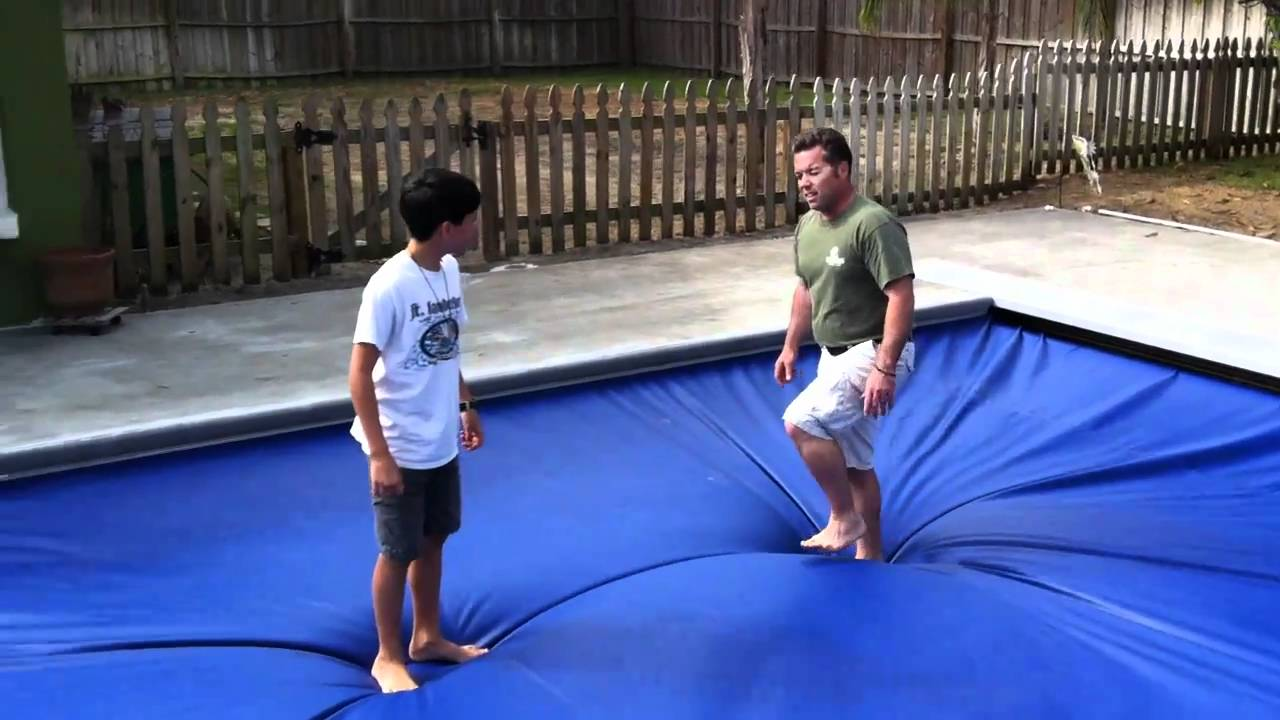 Fiberglass Pool With San Juan Automatic Safety Cover Aquamatic Youtube