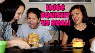 HUGE SQUISHY VS REAL EAT IT OR WEAR IT