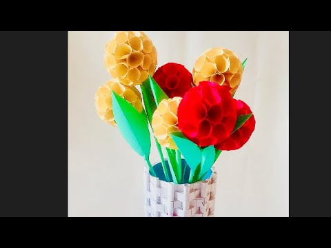 How to make beautiful flowers with papers..