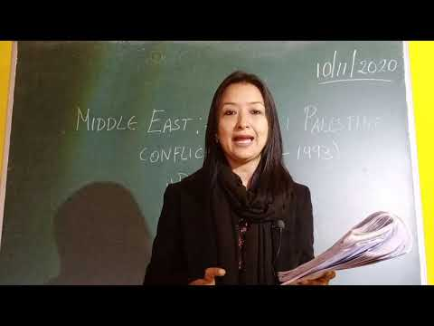 Class 12 History Chapter 11 - Middle East ;- Israeli Palestine Conflict - Part 1