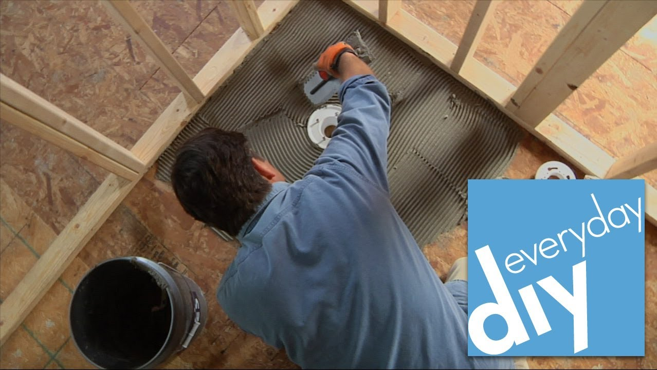 how to install a stand up shower base How to Install a Tileable Shower Base    Buildipedia DIY   YouTube how to install a stand up shower base