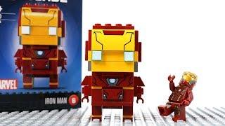 Iron Man Building Lego Block Brick Headz  - Marvel Superhero Fun Animation