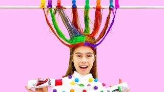Настя и история про цветные волосы