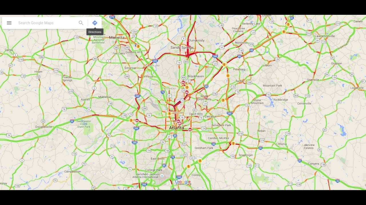 Atlanta Map Traffic.Atlanta Traffic Map Time Lapse Youtube