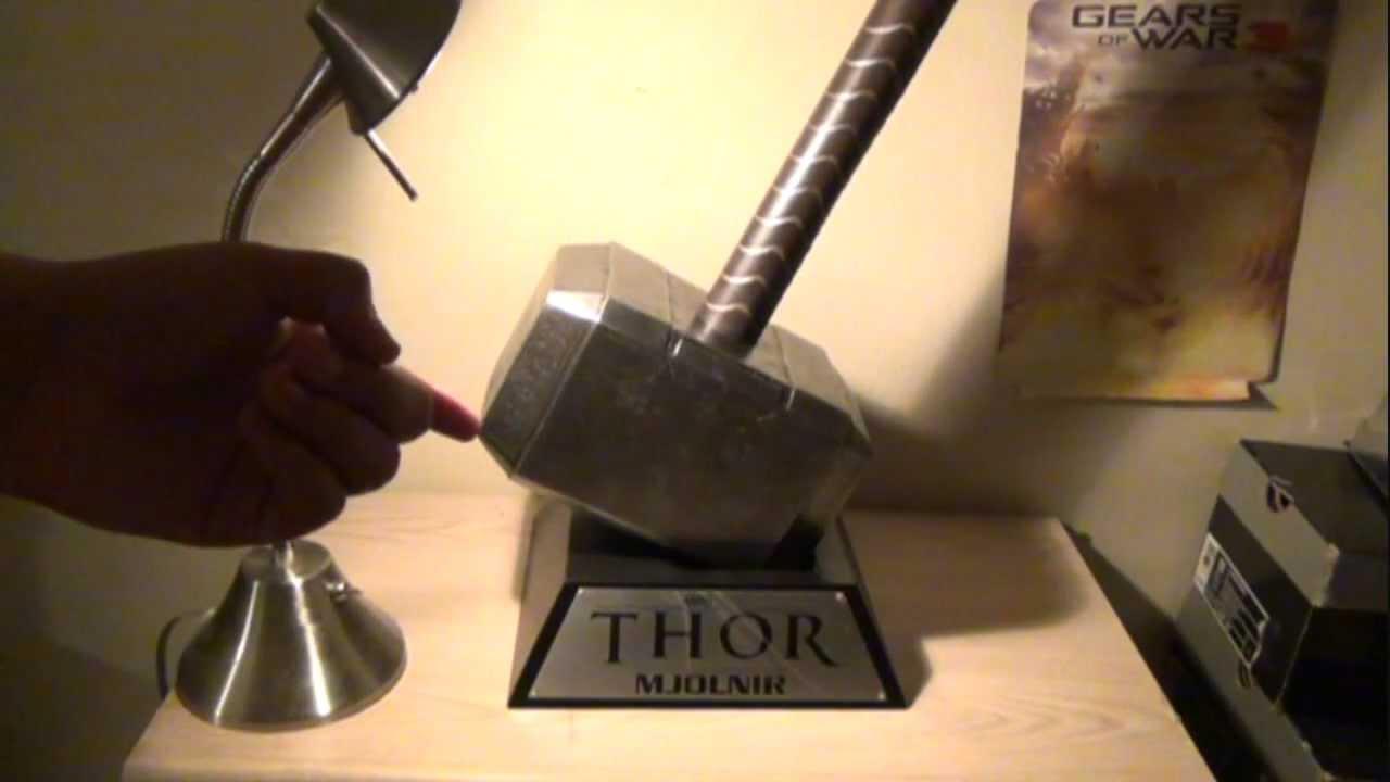 thor movie hammer mjolnir replica from museum replicas review youtube