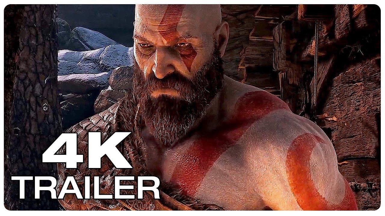 God Of War 4 Story Trailer 4k Ultra Hd New Game Trailer 2018 Ps4