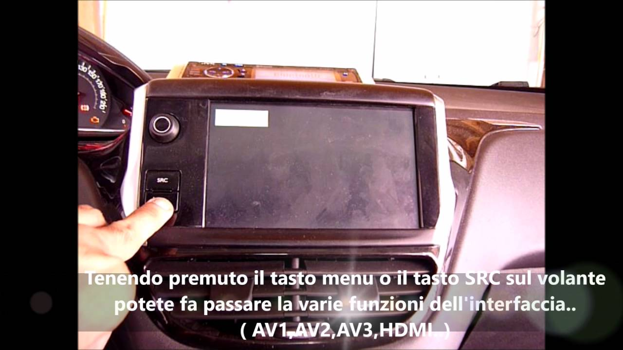 interfaccia video mirror screen peugeot 208 active youtube. Black Bedroom Furniture Sets. Home Design Ideas