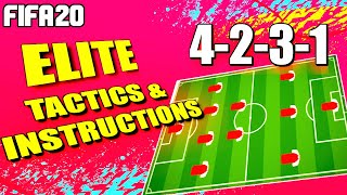 FIFA 20: 4231 BEST CUSTOM TACTICS AND INDIVIDUAL INSTRUCTIONS -  MOST OP FORMATION FOR FUT CHAMPS