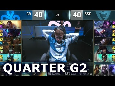 C9 vs SSG - Game 2 Quarter Finals Worlds 2016 | LoL S6 World Championship Cloud 9 vs Samsung G2