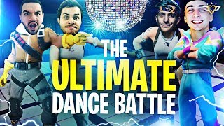 NINJA AND CLOAKZY VS COURAGE AND MARCEL! THE ULTIMATE DANCE BATTLE! (Fortnite: Battle Royale)