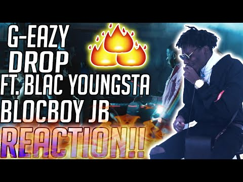 G-Eazy - Drop (Official Video) ft. Blac Youngsta, BlocBoy JB REACTION!