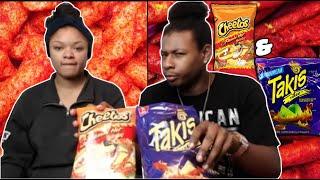 Hot cheetos & takis challenge!!!