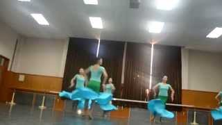 2012 Beijing Dance Academy Chinese Folk Dance Exam part 3 (Girls Dai Dance)