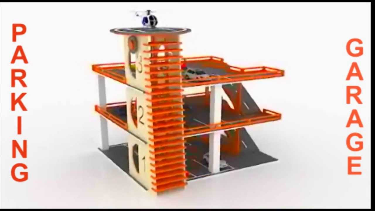 wood toy parking garage building plans cnc laser