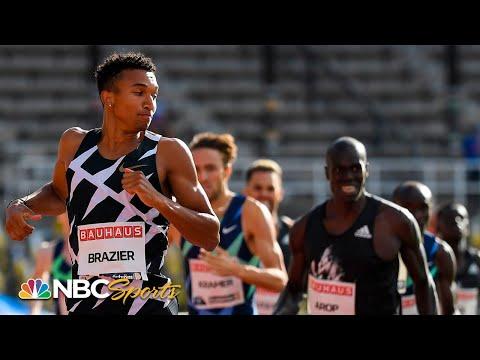 Brazier wins second straight 800m with signature close   NBC Sports