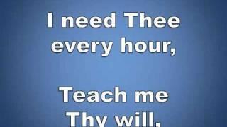 I Need Thee Every Hour w/ lyrics piano worship video