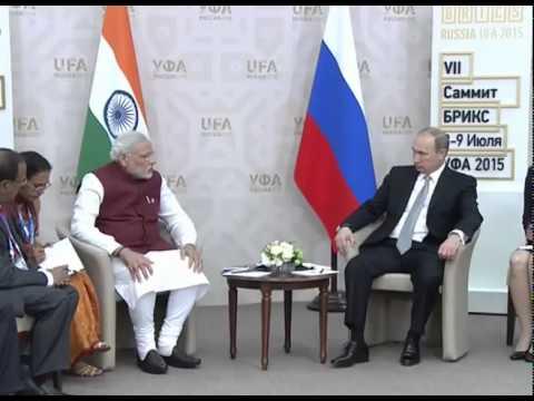 PM Modi meets President of Russia Vladimir Putin in Ufa