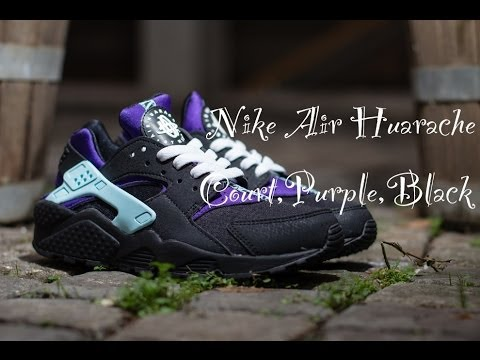 5b8977d17492 Nike Air Huarache   Court Purple Black   2014 - YouTube