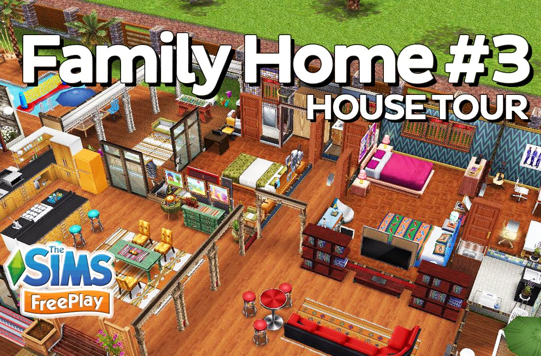 The sims freeplay family home original design youtube