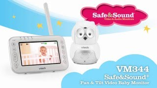 cefcf5f14e9 VM344 Video Baby Monitor with Pan, Tilt   Zoom. VTech Baby Monitors (Full  ...