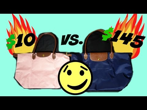 $10 VS $145 NYLON TOTE??!! |LONGCHAMP VS. GENERIC|