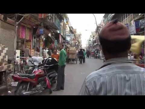 Rickshaw Ride - Near Chandni Chowk - Old Delhi - India