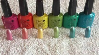 How to transform CND Shellac Brights to Pastel Shades