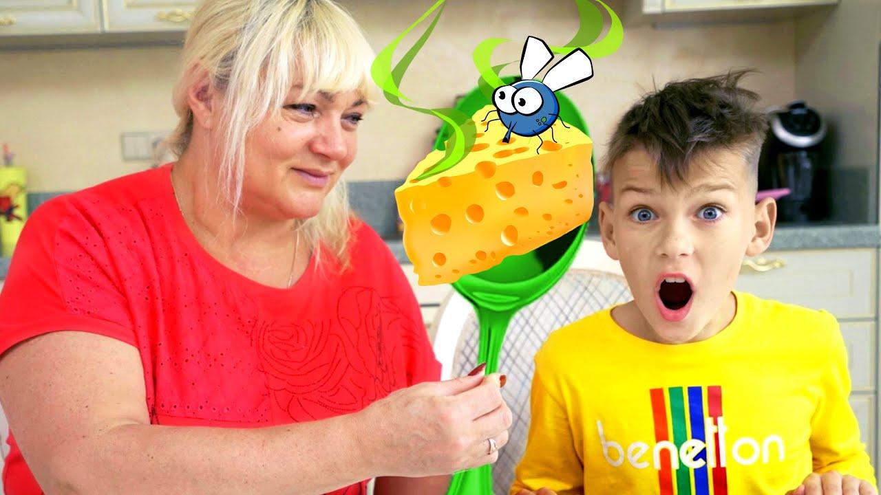 خمسة اطفال الطبخ واللعب مع أمي - قصص مضحكة للأطفال