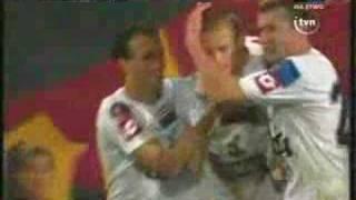 Pogoń - Legia, gol Kaźmierczaka