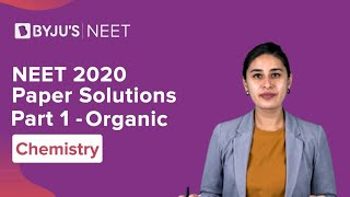 NEET 2020 | Previous Year Paper Solutions | Part 1 | ORGANIC CHEMISTRY | Nitika Ma'am