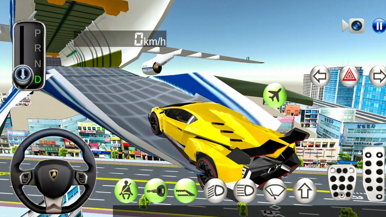 3d Driving Class 13 Flying Over The City Car Games Android Gameplay Youtube