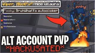 ALT ACCOUNT PVP *HACKUSATED FOR KILL-AURA* | Minecraft PvP