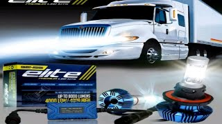 How to Install LED HEADLIGHTS tractor trailer