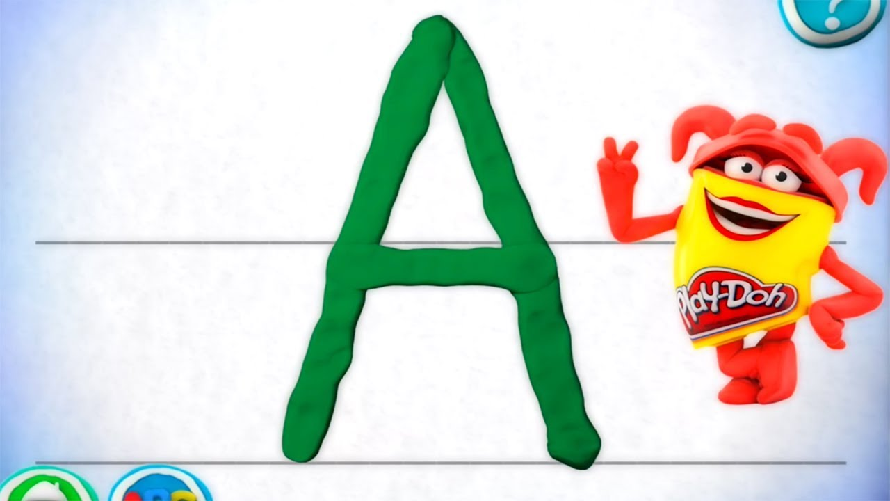 Play doh DIY How to Make Alphabet Letters with Gertit