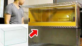 ガラス水槽を解体して爬虫類ケージにリメイク!