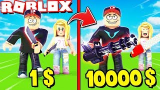 THE BEST WEAPON IN THE WORLD IN ROBLOX! (Roblox Weapon Simulator) Vito and Bella