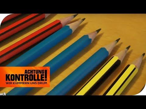 Achtung Wiederholungstäter: Bleistifte werden einfach kopiert! | Achtung Kontrolle | kabel eins