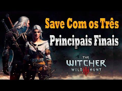 The Witcher 3:  Save Com os Três principais finais pra baixar (Save Steam)