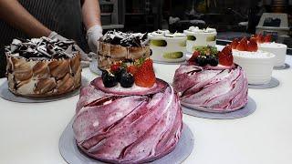 потрясающее мастерство красивый мастер тортов - кондитерская в корее