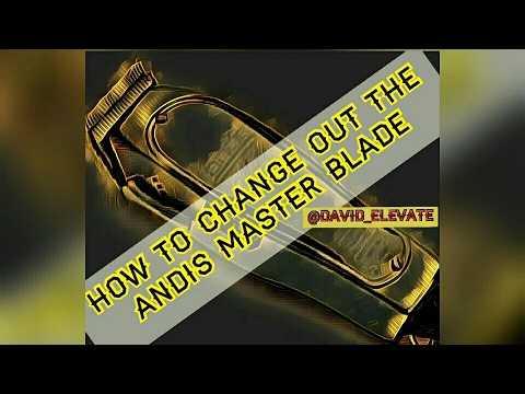 How To Change The Andis Master Blade  @davidelevate  Youtube